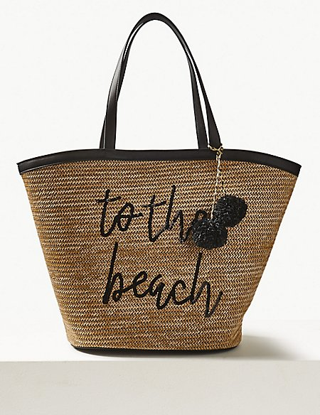 marks and spencer printed tote bag