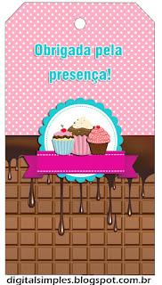 Para marcapáginas de Chicas Haciendo Cupcakes.