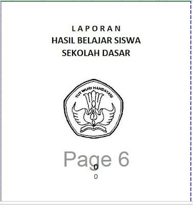 Tampilan Cover Raport KTSP SD, http://www.librarypendidikan.com/