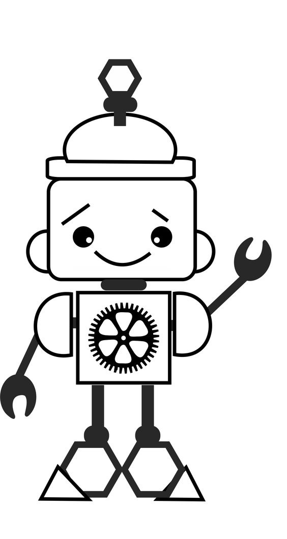 Tranh tô màu Robot 7