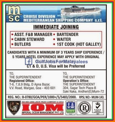 Mediterranean Shipping Company job vacancies - Gulf Jobs for