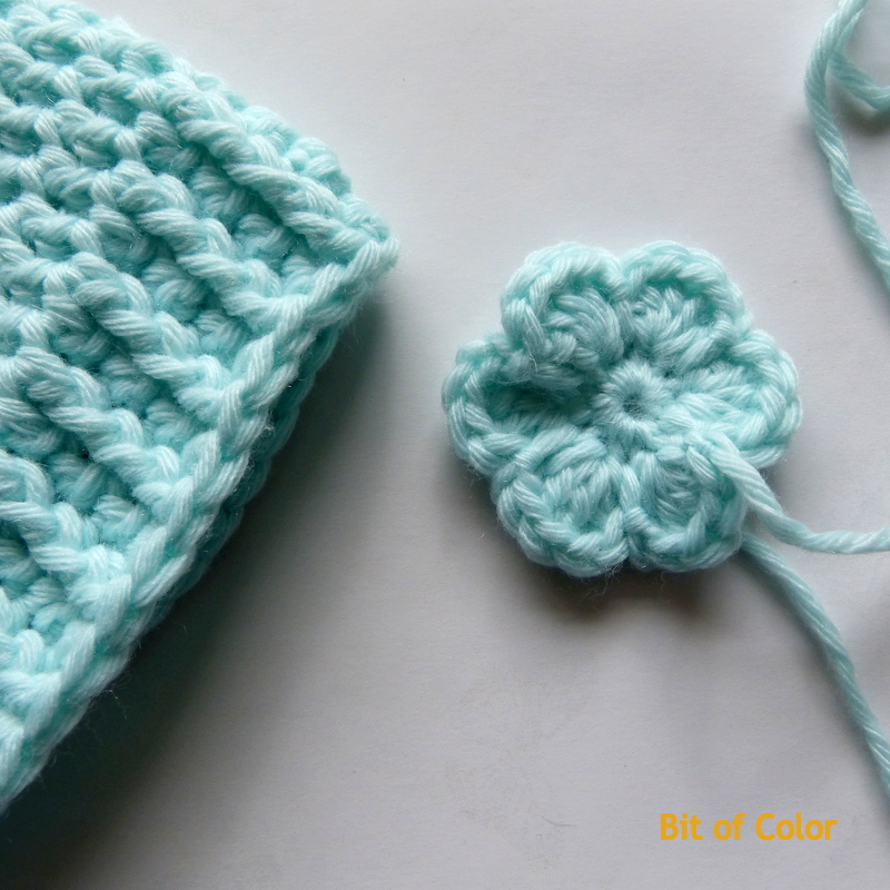 Bit Of Color Tutorial Babymutsje Met Bloem