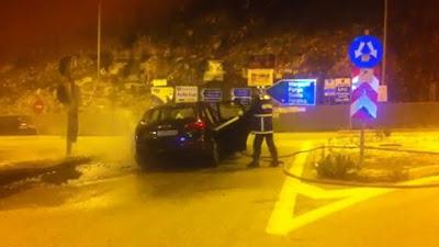 Ηγουμενίτσα: ΙΧ πήρε φωτιά στην Εγνατία (ΦΩΤΟ+ΒΙΝΤΕΟ)