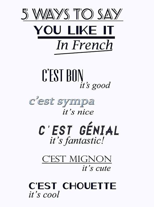 5 ways to say it in French...!