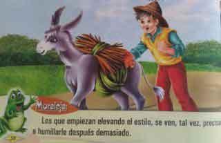 Fábula: El caminante y la mula de alquiler