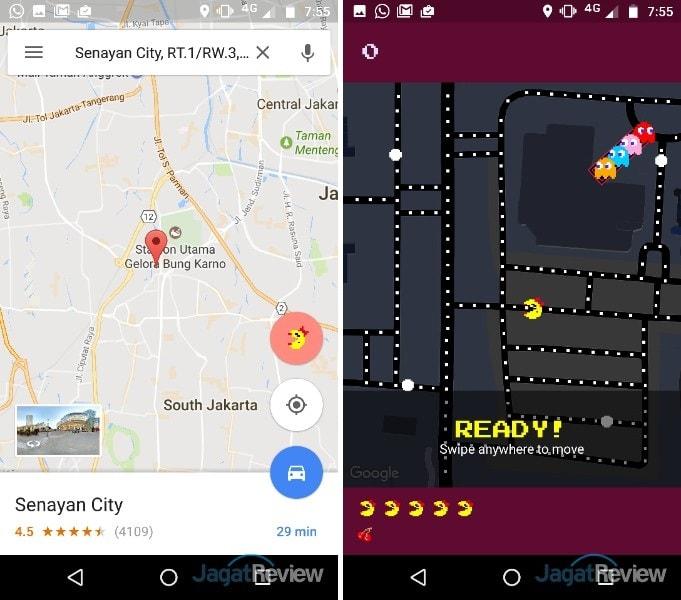Cara Bermain Pac-Man dengan Google Maps di PC dan Android