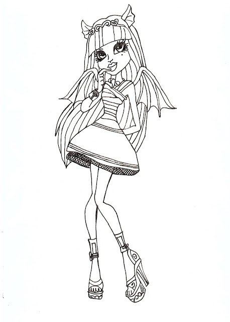 Free Printable Monster High Coloring Pages: Rochelle Goyle