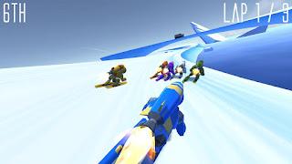 تحميل لعبة سباق التزلج Rocket Sky Racing للاندرويد مجانا