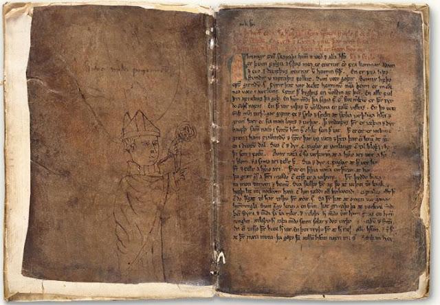 Skan pierwszej karty rękopisu DG 11, zwanego upsalskim