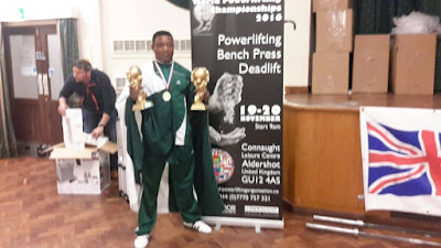 Mr Prince Kennedy, an indigene of Imo state, Breaks World Record In Power Lifting Competition In The UK (Photos) Hkn