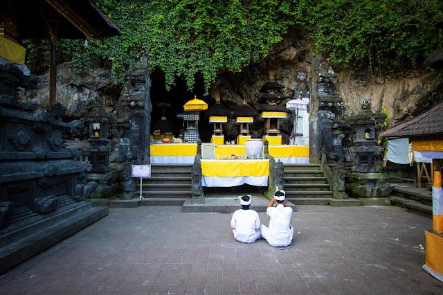Tempio della grotta dei pipistrelli di Goa Lawah-Bali