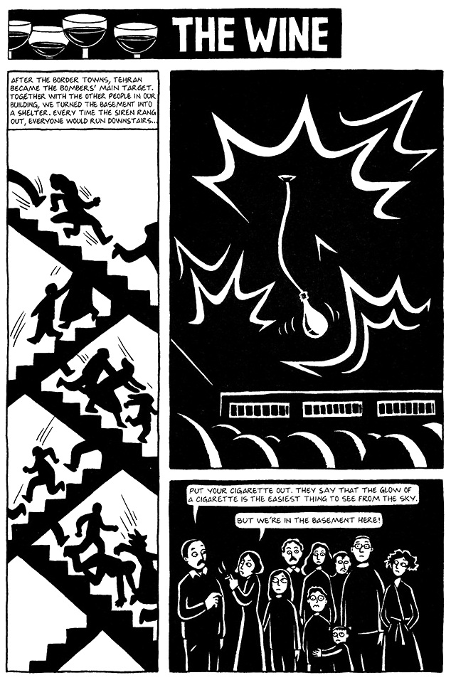 Read Chapter 14 - The Wine, page 101, from Marjane Satrapi's Persepolis 1 - The Story of a Childhood