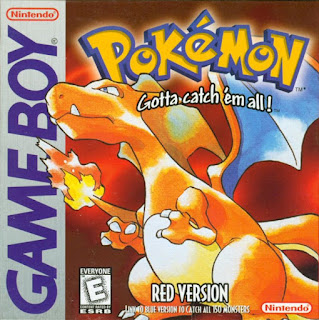 Portada del cartucho de Game Boy: Pokémon Roja (1996)