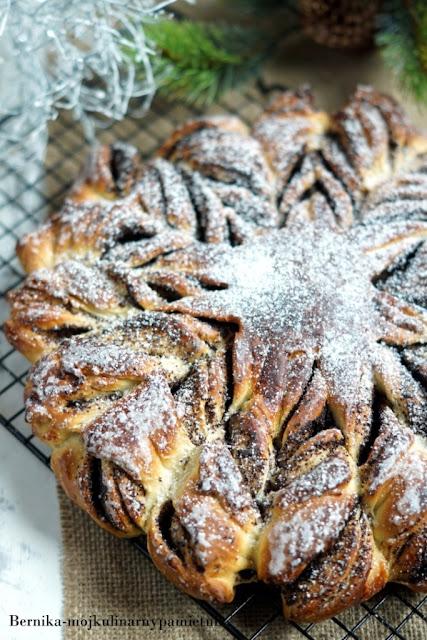 mak, drozdze, ciasto, gwiazda, bernika, wigilia, kulinarny pamietnik