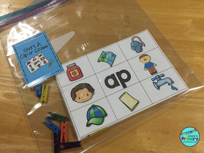 No Prep, Hands-On Literacy Centers to practice Short A words.