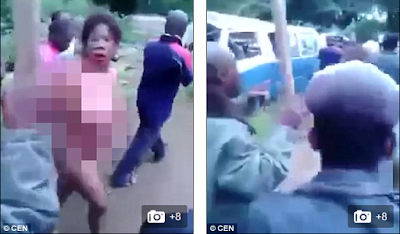 SEE HOW ANGRY MOB BEAT AND STRIPPED 'CHILD-KIDNAPPER N@KED IN IMO (PHOTOS)