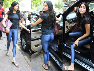 Photo-Story-Janhvi-Kapoor-s-Skin-Tight-Show-Andhra-Talkies