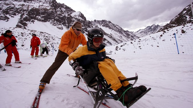 Valle Nevado para deficientes físicos em Santiago do Chile