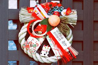 shimekazari adorno tradición año nuevo japon