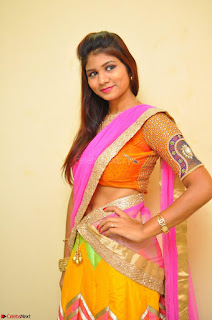 Lucky Sree in dasling Pink Saree and Orange Choli DSC 0351 1600x1063.JPG
