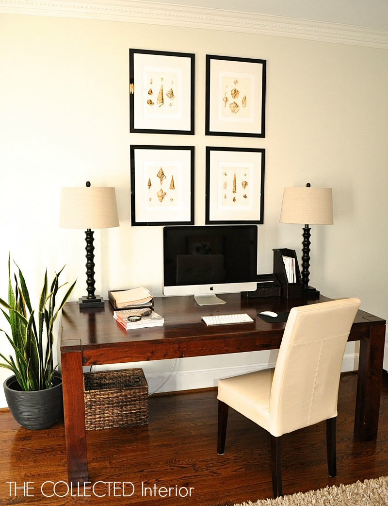 the collected interior re purpose a dining room table into a desk rh thecollectedinteriorblog com dining room table converts to desk dining room table desk combo