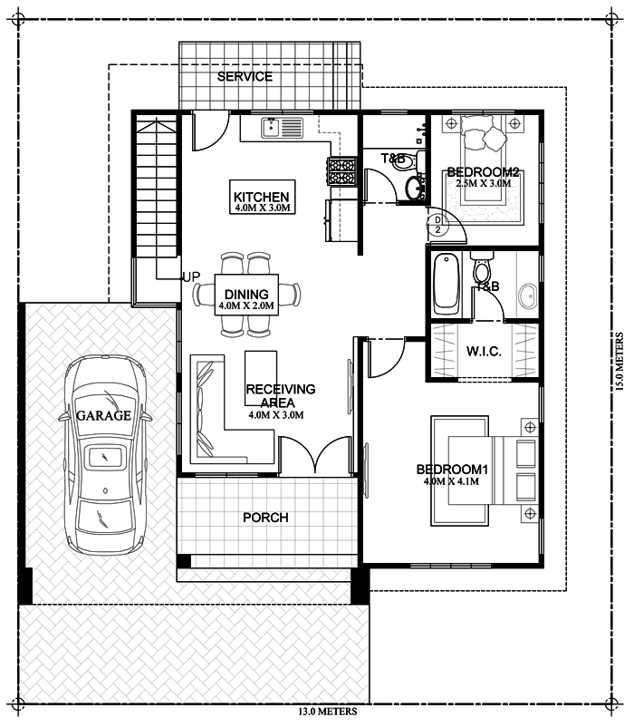 MyHousePlanShop: Double Story Roof Deck House Plan ...