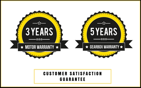 Customer warranty - digga drive unit - motor warranty