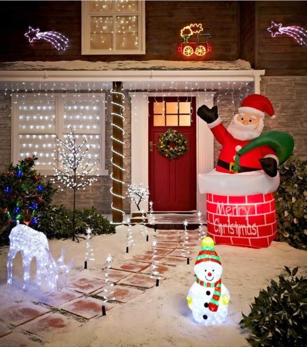 decoración fachada navideña