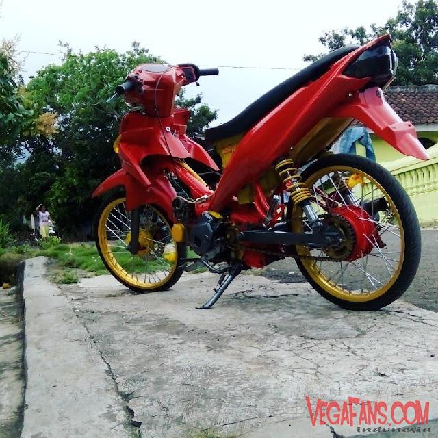 Vega ZR Modif Thailook Merah Kuning