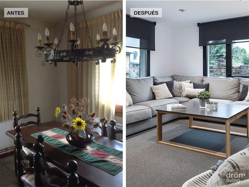 El antes y despues de la reforma de una casa de monta a - Decoracion de casas antes y despues ...