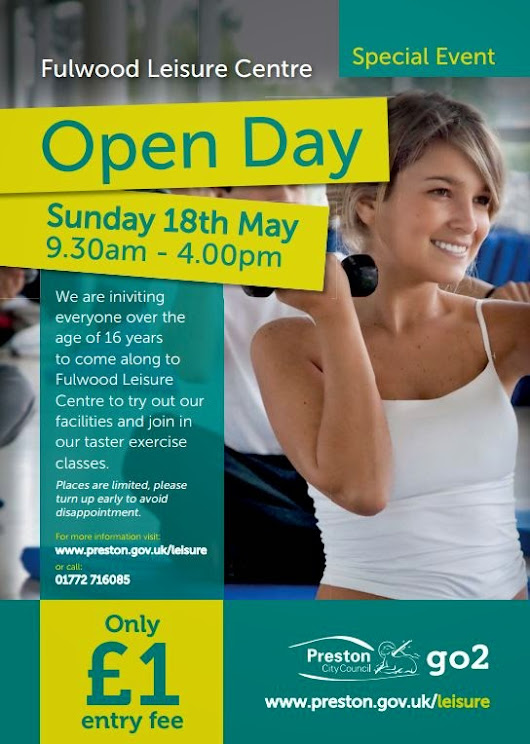 PRESTON and WEETON HIVE: Fulwood Leisure Centre Open Day  - 18th May