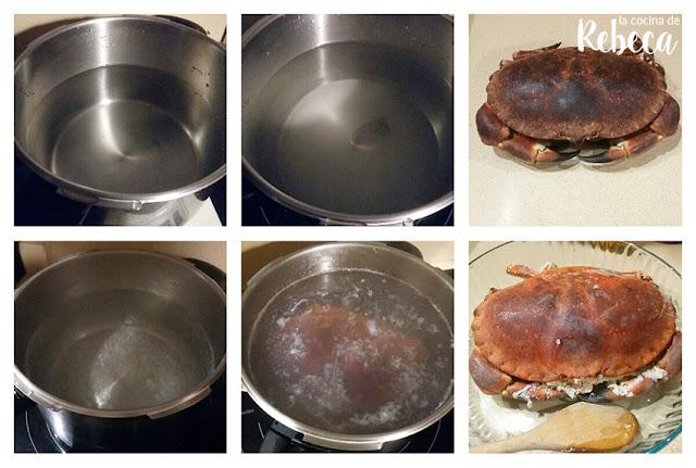 Cómo cocer un buey de mar
