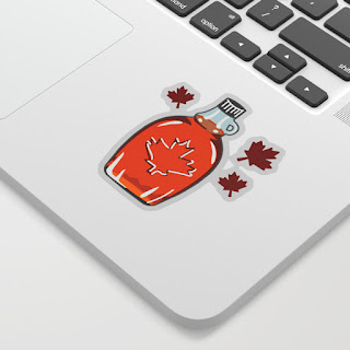Canadian Maple Syrup Drawing Sticker