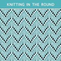 Eyelet Lace 83 -Knitting in the round