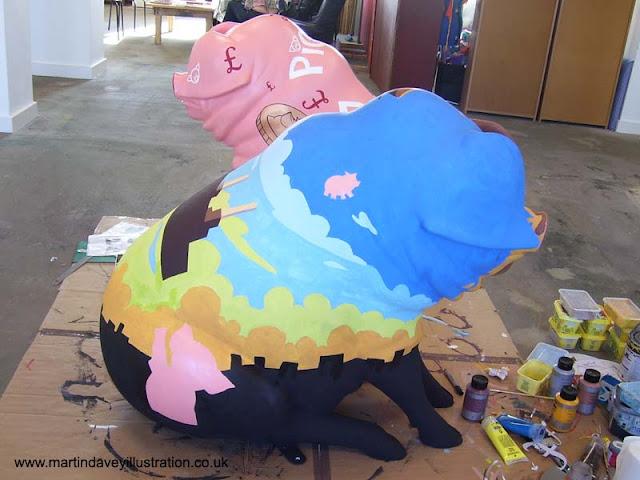 M P Davey pig henson public art pig sculptures WIP