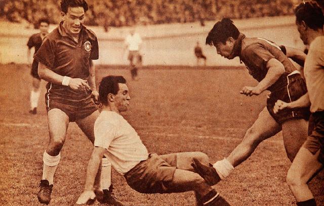 Chile y Checoslovaquia en partido amistoso, 26 de agosto de 1956