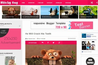 Blogger Template Sticky Gag