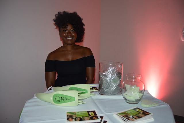 Q-Redew handheld hair steamer representative Tia at Naturally Pretty The Art of Curl