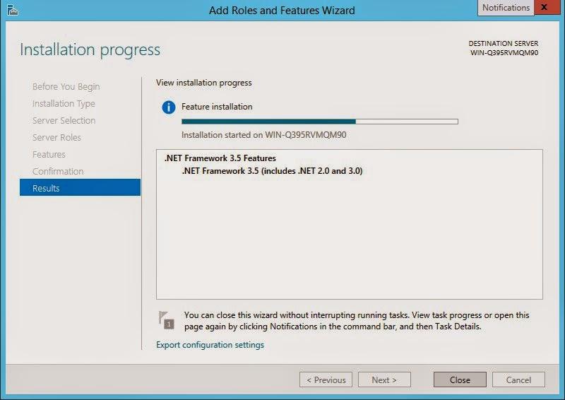 Instalacja .Net Framework 3.5 w Windows 2012 R2