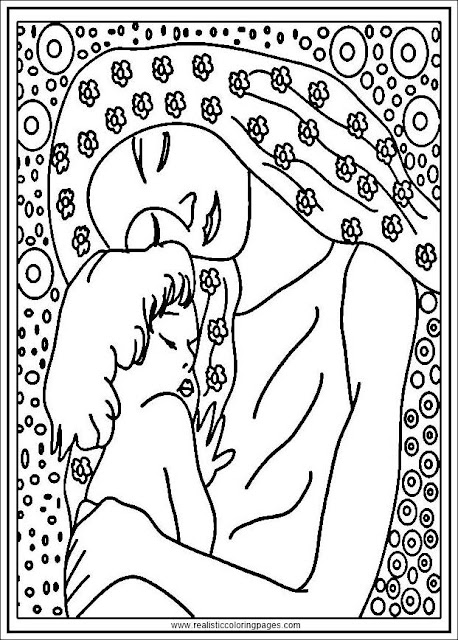 gustav klimt mother and child adult coloring pages