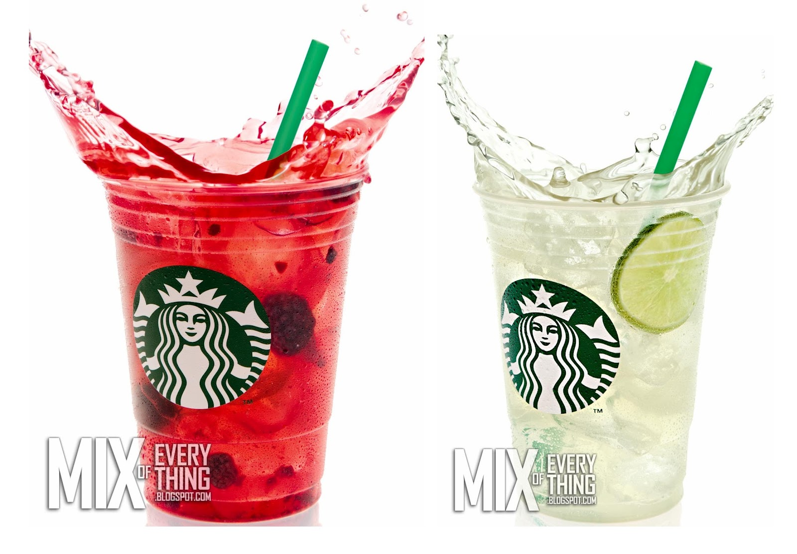 Starbucks Refreshers Featuring Very Berry Hibiscus Cool Lime