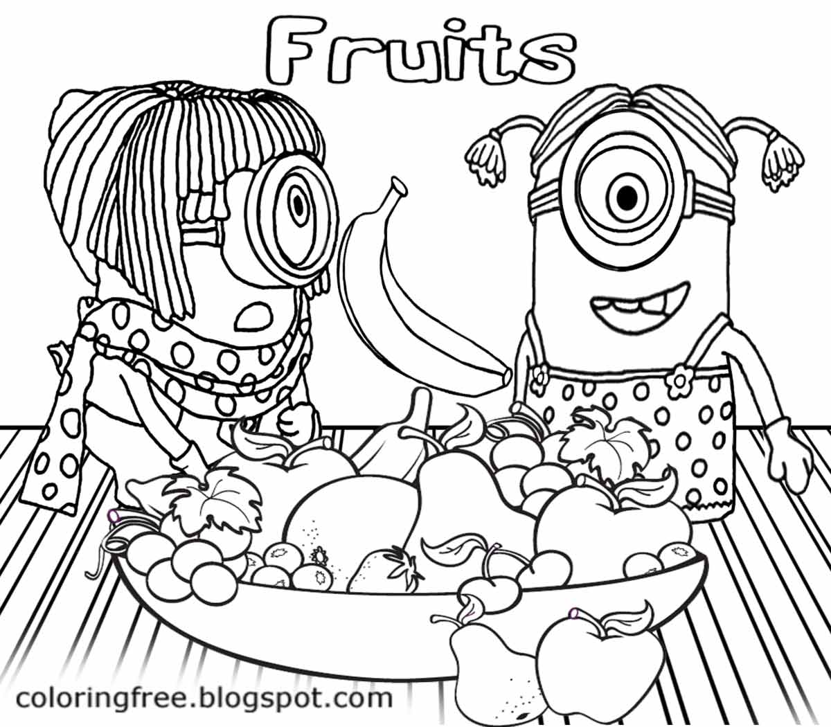 LETS COLORING BOOK: Kids Costume Minion Coloring Pages Banana ...