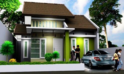 Contoh Desain Rumah Warna Hijau