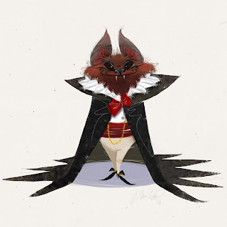 vampire bat illustration halloween j shari ewing