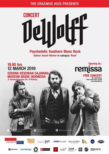 'De Wolff', Band Asal Belanda yang akan Konser di Malang Bulan Maret ini!