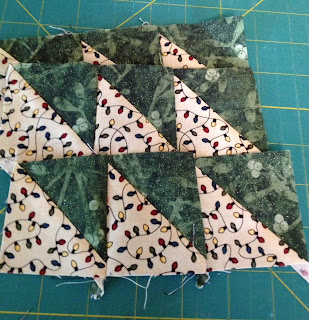 half triangles sewn together