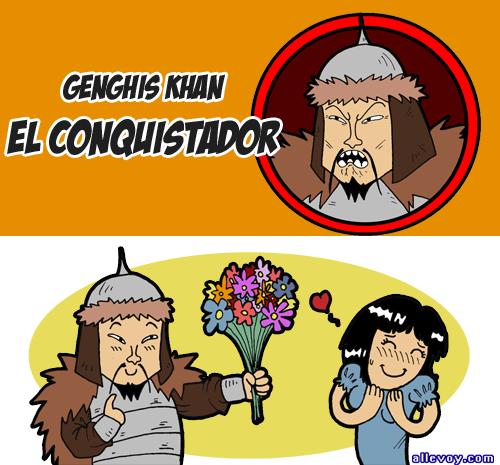 Meme de humor sobre Genghis Khan
