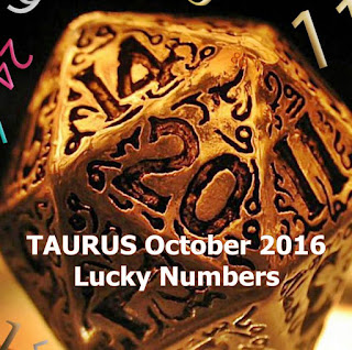 TAURUS October 2016 Lucky Numbers