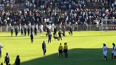 Chicken Inn vs Highlanders fans invade the pitch