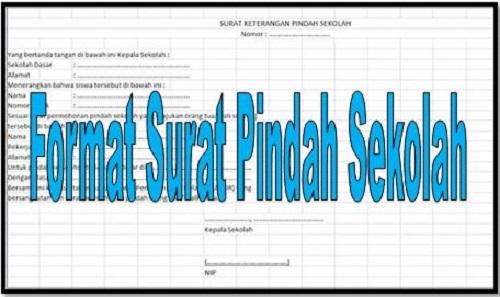 Download Format Surat Pindah Sekolah